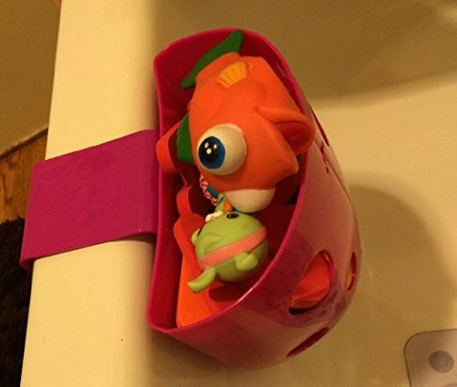 Chickadee Chicks Magnetic Bath Toy Storage Bin (Pink) – NO Suction Cups