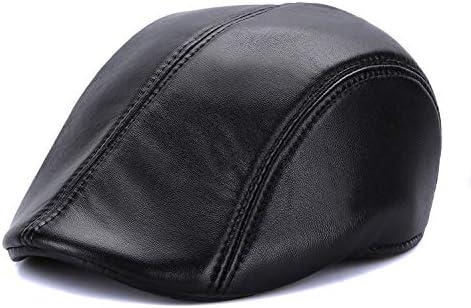 Color : Black Suede, Size : XL SUNXK Sombrero de Piel de Oveja de Piel de Hombre de Edad Avanzada brit/ánica Caballero oto/ño e Invierno Sombrero del Jazz