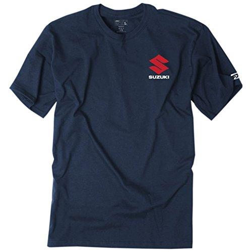 Apparel Suzuki - Factory Effex Tee Shirt - Suzuki Shutter - Navy (Medium)