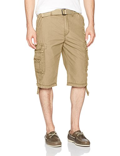 Unionbay Men's Cordova Belted Cargo Short Messenger -  34 - - Mens Bermuda