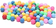 50Pcs/Pack Colored Ping Pong Balls 40mm 2.4g Entertainment Table Tennis Balls Mixed Colors for Game and Advert