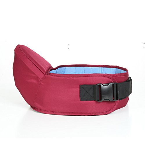 Baby Toddler Hip Seat Support Belt Waist Stool Walkers Carrier Baby Hip Seat (Claret-red) by Blue Handcart