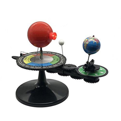 Science Educational Sun-Moon-Earth Orbiter model with Light