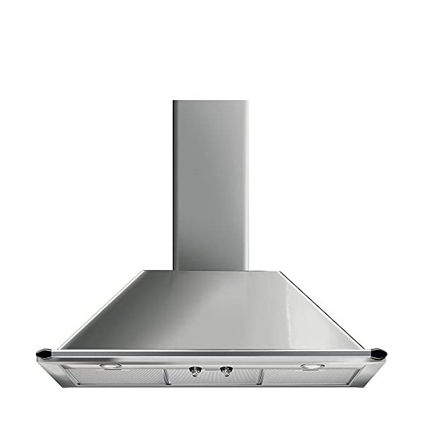 "Smeg 36"" ""Victoria"" Wall Hood, Stainless Steel 600 CFM, Halogen Lights Circulation 1"