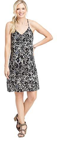 maurices Women's Animal Print Tank Dress X Small Black Combo