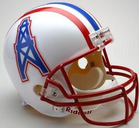 - Riddell NFL Houston Oilers Helmet Replica Full Size VSR4 Style 1996 Tennessee Throwback, One Size, Team Color