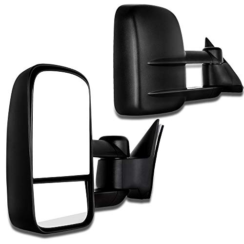 SCITOO Fit 1988-1998 Chevrolet Gmc C K 1500 2500 3500 Truck Black Towing Power Side Mirrors Pair Set -