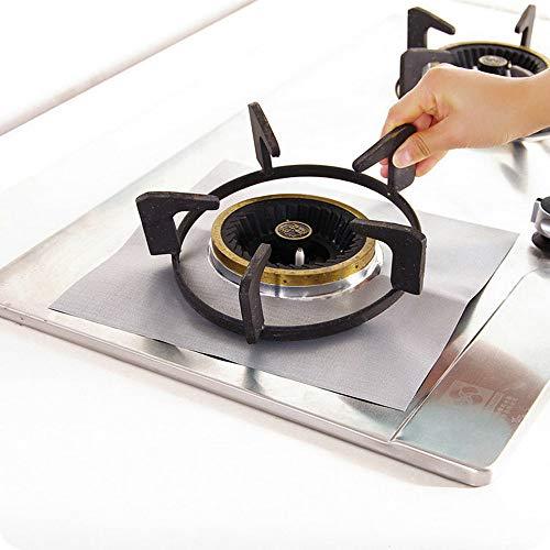 Clearance Sale!UMFun10Pcs Stove Burner Covers Burner Protectors Double Reusable Non-stick Stovetop Burner 10.6x10.6inch ()