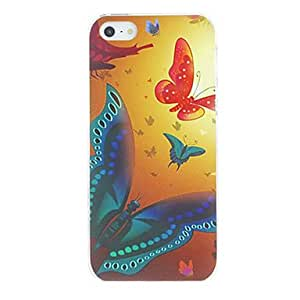 SUMCOM Beautiful Butterflies Pattern PC Hard Case for iPhone 5/5S