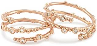 Kendra Scott Zoe Ring in Rose Gold Plated and Cubic Zirconia Set of 2