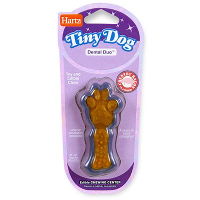 Tiny Dog Dental Duo Dog Toy Edible Chew Combo [Set of 3] Duo Dog Toy