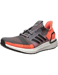 Men's Ultraboost 19 Running Shoe, Grey/Black/hi-res Coral, 8 M US