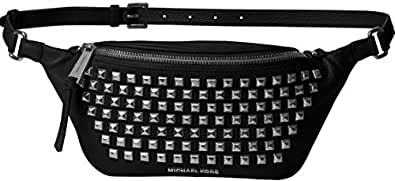 Michael Kors Rhea Zip Pyramid Stud Belt Bag - Black - 30T6TEZN5L-001