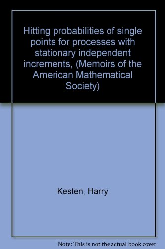 Hitting probabilities of single points for processes with stationary independent increments, (Memoirs of the American Mathematical Society)