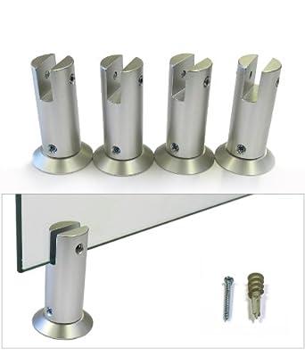 """Set of 4 - 3/4"""" Dia x 1"""" L Aluminum Panel Support"""