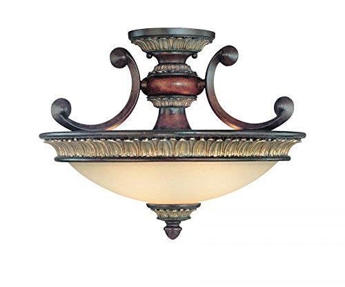 (Dolan Designs 2645-211 2Lt Yuma Bonita 2 Light Semi Flushmount,)