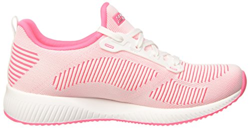Skechers Bobs Kvinna Bobs Trupp-twin Mode Sneaker Vit / Shock Rosa