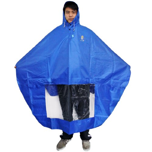 NAVA Blue Rain Cape Mobility Scooter Cover Rainproof Coating Raincoat Mirror Slots
