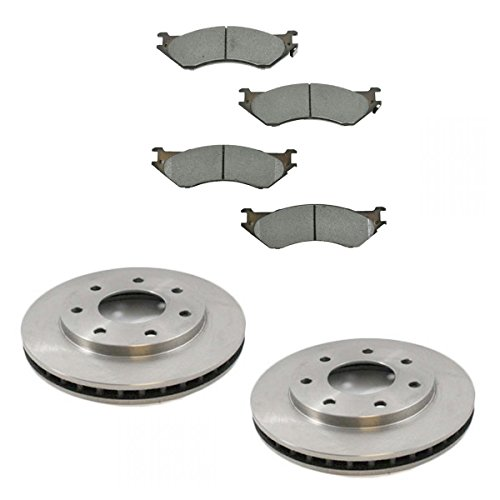 (Front Disc Brake Pad & Rotor Kit Set for Ford Truck 4WD 4x4)