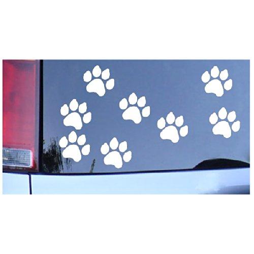 Dog Paw Prints Sticker White