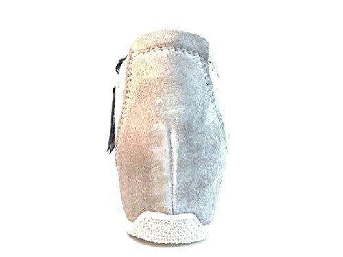 IGI&Co 11594 Perla Scarpa Donna Sneaker Zeppa Interna Made in Italy Pelle e Pizzo