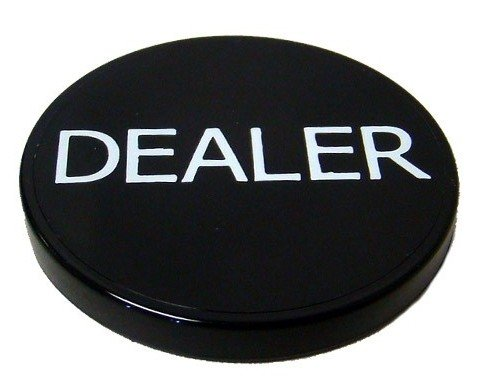 Lot of 10pcs 2'' Black Plastic Dealer Poker Button By MRC