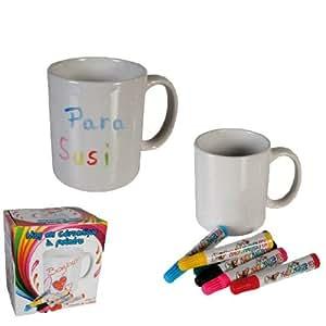 Taza Ceramica para Pintar con Rotuladores