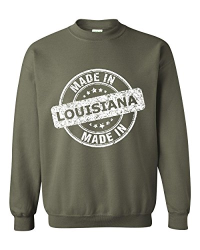 NIB Made In LA Map New Orleans Flag Baton Rouge Home Of University Of Louisiana Unisex Crewneck - Rouge Shopping In Baton