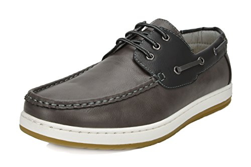 Mens Casual Dress Boat - Bruno Marc Men's Pitts_12 Grey/BLK Oxfords Moccasins Boat Shoes Size 13