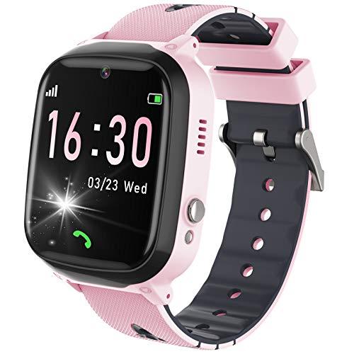 Smart Watch voor kinderen – Twee-weg oproep Smartwatch telefoon met 7 puzzelspellen Muziekspeler Alarm SOS Camera…