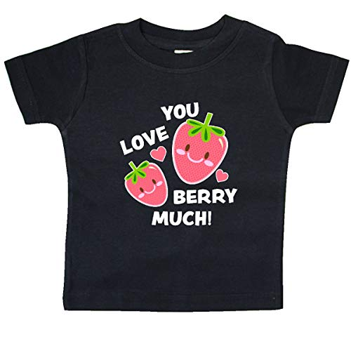 inktastic - Valentine Love You Berry Much Baby T-Shirt 18 Months Black - Berry 963