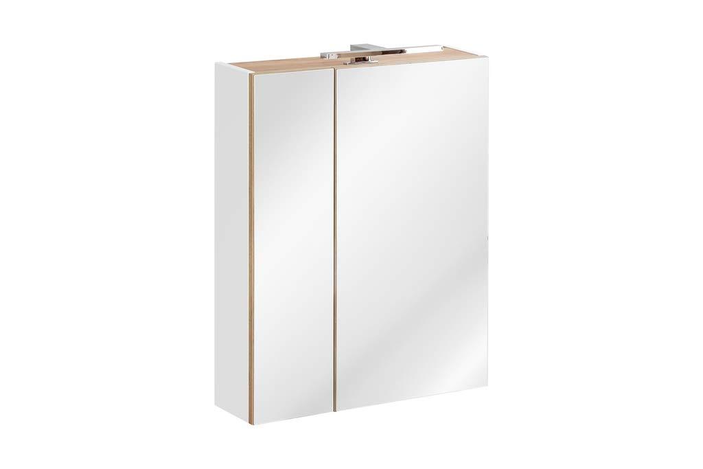 Capri Badm/öbel-Set 7-teilig in Wei/ß Hochglanz mit Doppelwaschtisch 120 cm