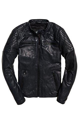 Superdry Black Jacket Bomber Leatherquiltracer Mens qn6qpC