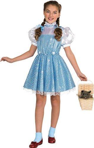 [Wizard of Oz Dorothy Sequin Costume, Medium (75th Anniversary Edition) Size: Medium Model: 886493M] (Baby Dorothy Costumes)