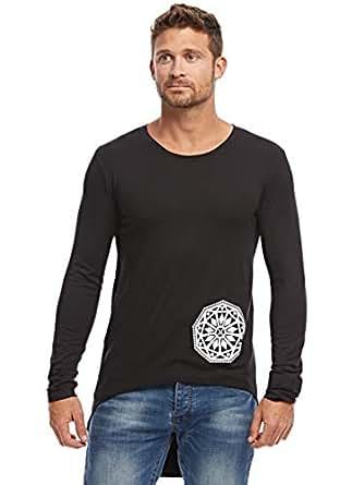 Afterlife Black Round Neck T-Shirt For Men