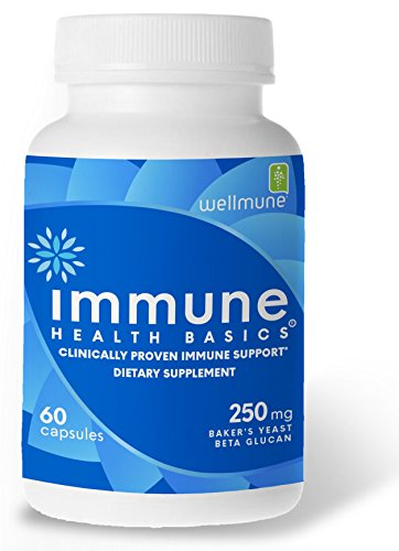 - Immune Health Basics - Wellmune beta glucan 250 mg Immune Support, 60 Veg Capsules