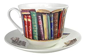 Roy Kirkham Creative Writing Book Lovers Breakfast Tea cup and Saucer Set Fine Bone China