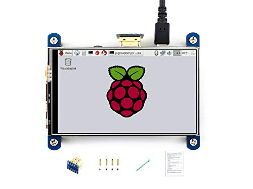 Waveshare 4inch HDMI LCD Resistive Touch Screen 800x480 High Resolution HDMI interface IPS Screen Designed for Raspberry Pi 3 B/2B/B +/B