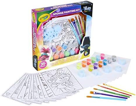 Crayola Trolls World Tour Paint Set, Trolls 2, Gift for Kids, Ages 3, 4, 5, 6