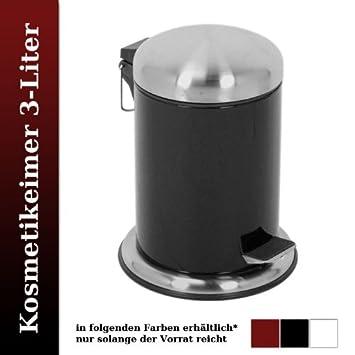 Retro Kosmetikeimer Treteimer Mülleimer Badezimmer Eimer 3L