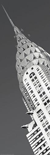 Pyramid America Chrysler Building B&W Photography Art Print Poster 12x36 inch -
