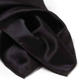 Solid Series Rectangular Silk Scarf - Black
