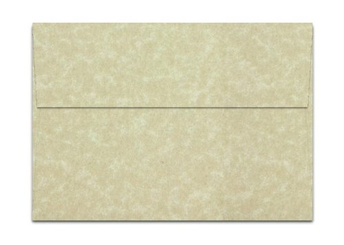 AGED Parchment Envelopes A7 5 25 x 7 25 inch