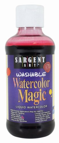 Sargent Art 22-6020 8-Ounce Watercolor Magic, Red ()