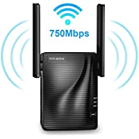 Rock Space 750Mbps 2.4 & 5GHz Dual Band WiFi Extender with Ethernet Port