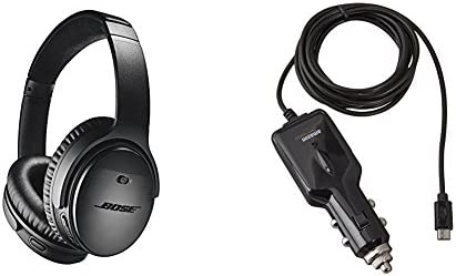 c4fd7edc39a Amazon.com: Bose QuietComfort 35 (Series II) Wireless Headphones, Noise  Cancelling - Black with AmazonBasics Car Charger: Electronics