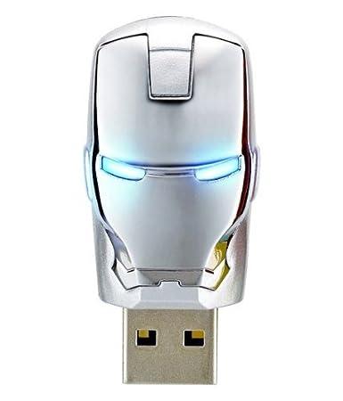The AVENGERS Ironman War Machine Mask USB Flash Drive 8GB (8GB Sliver) Pen Drives at amazon