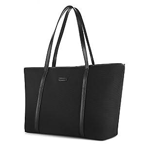 CHICECO Extra Large Nylon Tote Bag Shoulder Bag for Women - Black ...