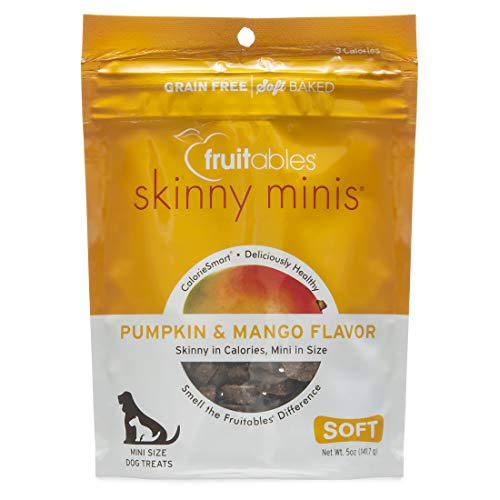 - Fruitables Skinny Minis Grain Free Soft Dog Treats Pumpkin & Mango Flavor 5 Oz