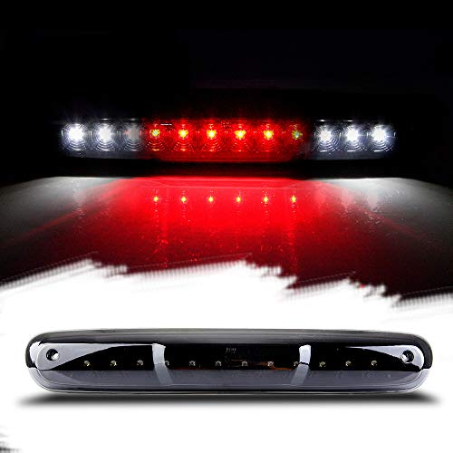 Third Brake Light LED 3rd Brake Light Rear Tail Brake Light Cargo Lamp Waterproof Smoke Lens Black Housing High Mount Brake Light Replacement fit for 2007-2013 Chevy Silverado GMC Sierra 25890530